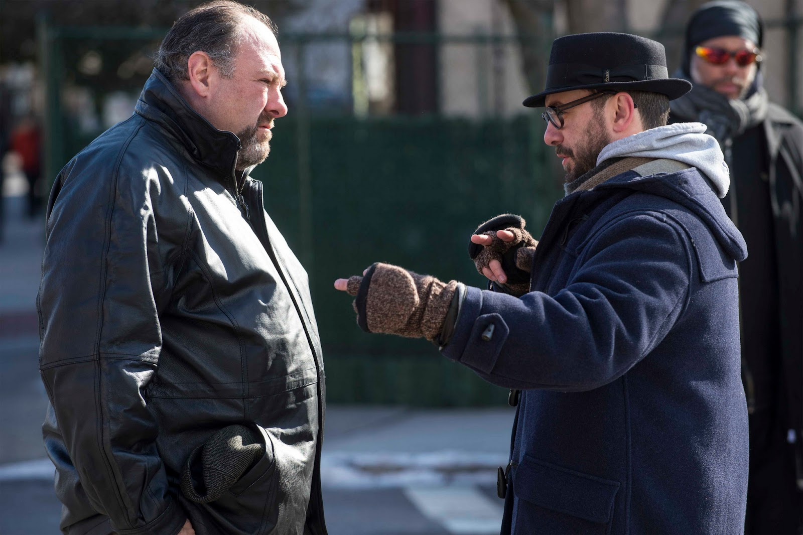 The Drop James Gandolfini & Michaël R. Roskam on the set of The Drop