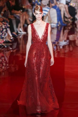 Kırmızı Abiye Elbise Modelleri 2013