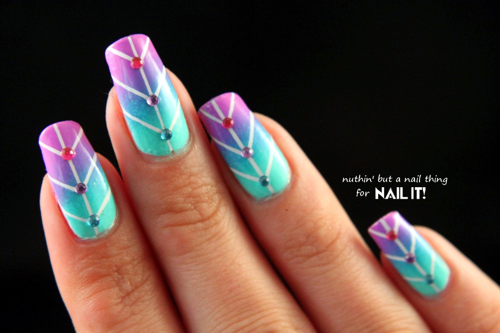 nuthin\' but a nail thing: Nail It Magazine: Striping Tape Gradient ...