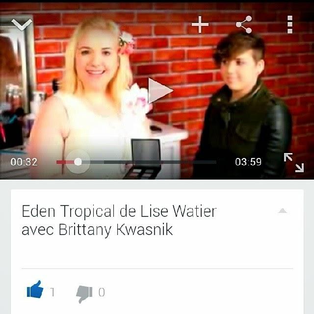 Tutoriel avec Brittany Kwasnik pour la collection d'été de Lise Watier Eden Tropical