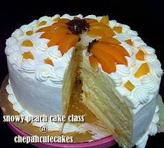 Cake: Snowy Peach