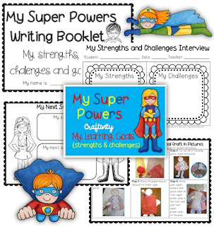 Super Powers Craftivity Learning Goals BTS Image