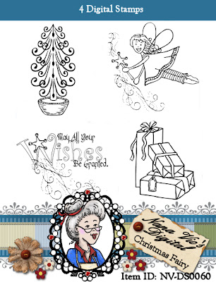 Christmas Fairy Set digital stamp