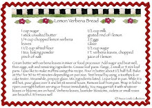 Recipe for Lemon Verbena Bread