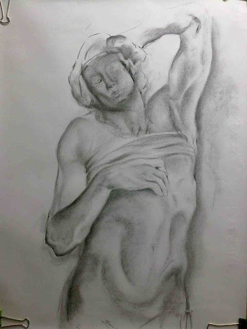segunda fase dibujo estatua