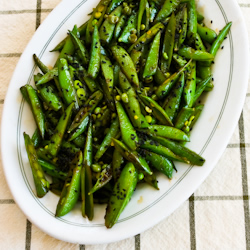 Recipe for Spicy Stir-Fried Sugar Snap Peas with Soy Sauce, Sesame Oil ...