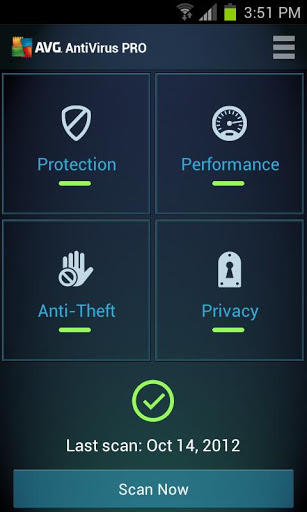 AVG antivirus app for android