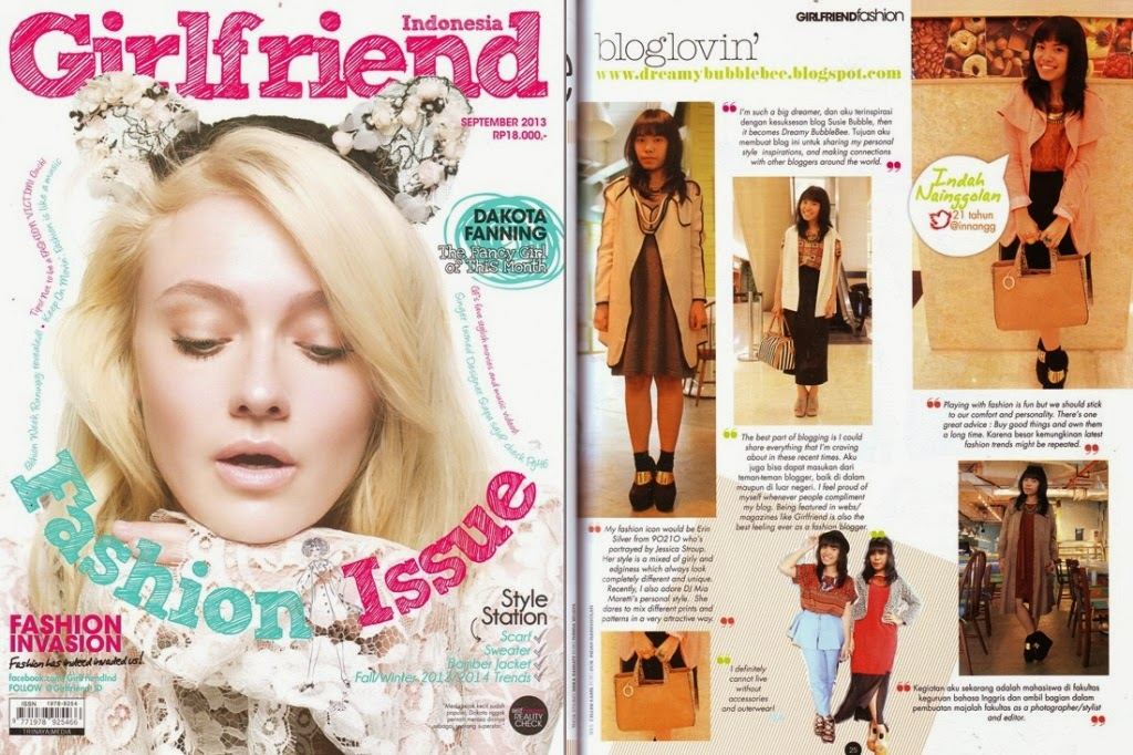 "Girllfriend Magazine September 2013 : ""Bloglovin"""