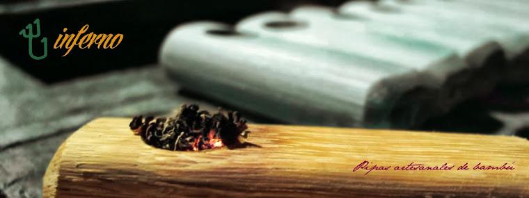 Inferno pipas de bambú