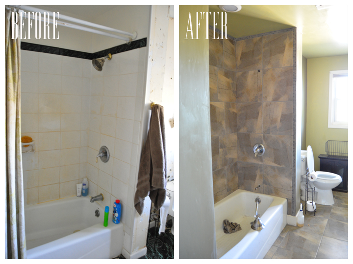 Popular Halfway through shower bathroom renovation