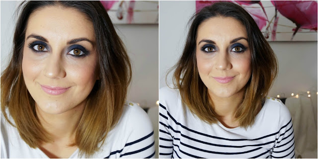 Dark Navy Smokey Eye Makeup Tutorial