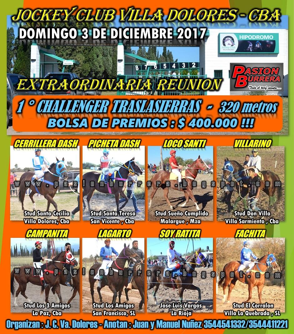 VILLA DOLORES - 3 DICIEMBRE 2017