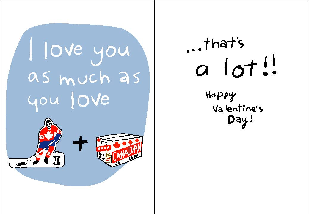 New Canadian Valentines Day cards – Hockey Valentines Day Cards