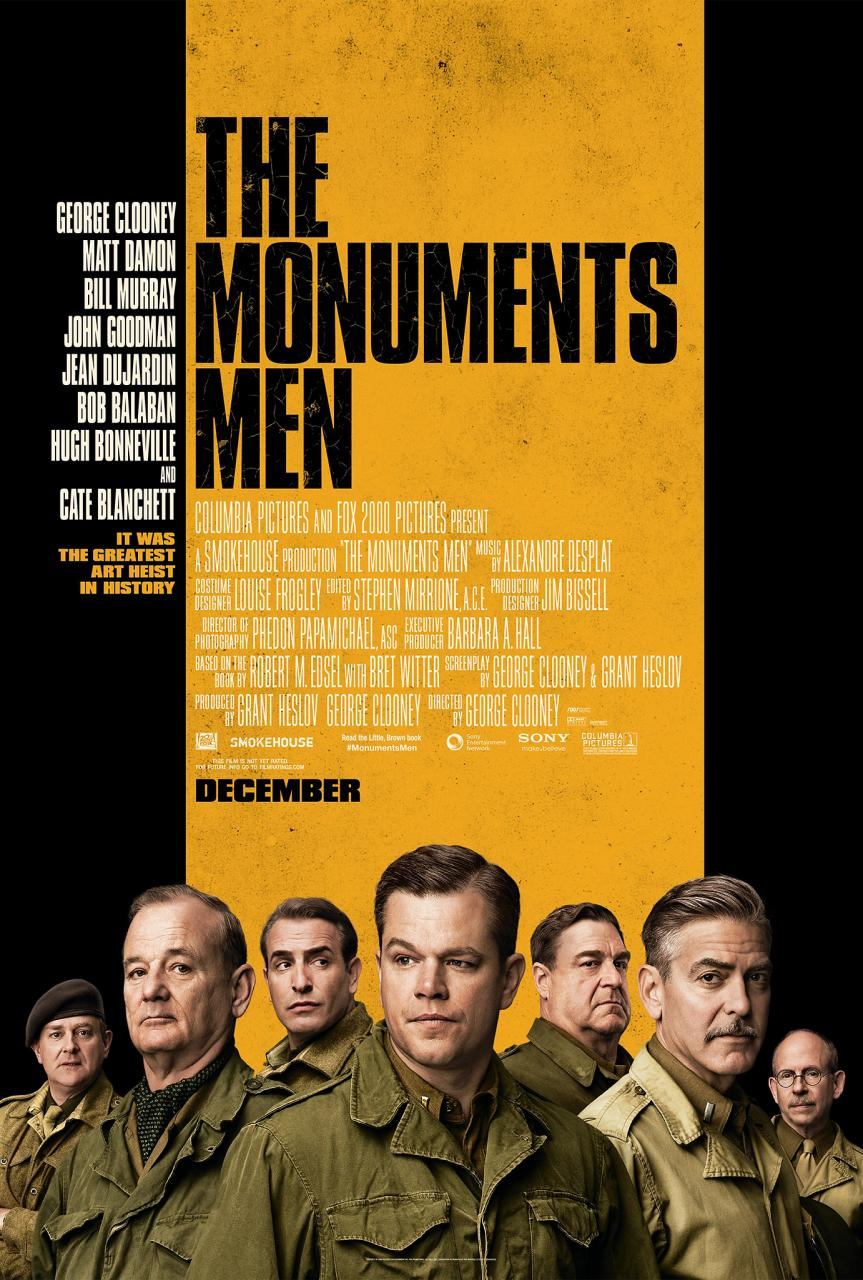 "First Official Theatrical Poster For World War II Film ""The Monument Men"""