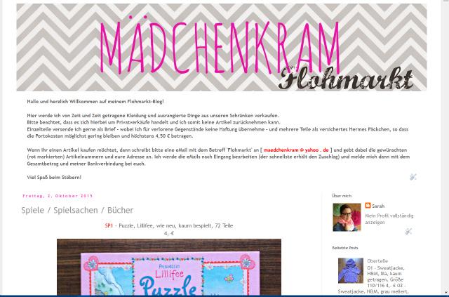 http://maedchenkram-flohmarkt.blogspot.de/