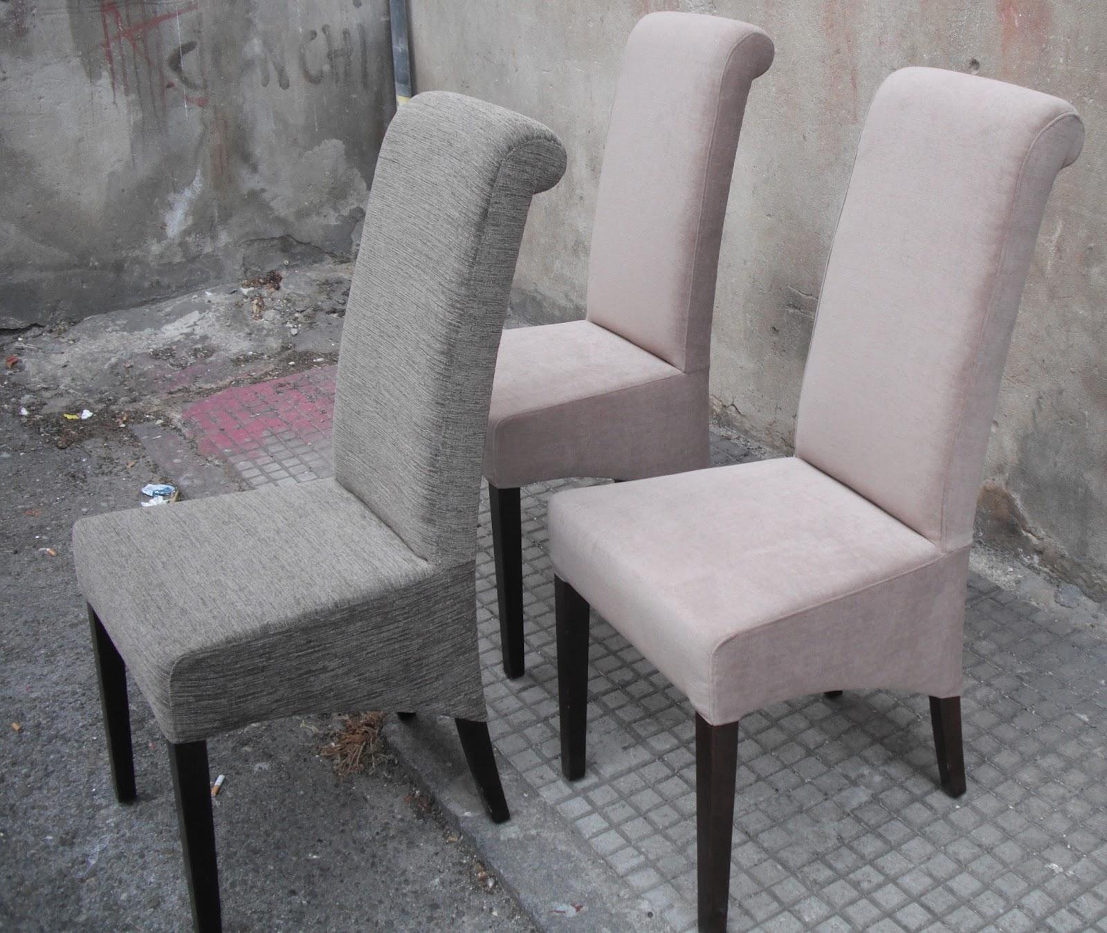 Tapicer a chiqui 6 sillas 6 de comedor for Telas tapizar sillas comedor