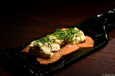 Smoked Salmon with Homemade Cheese Tofu