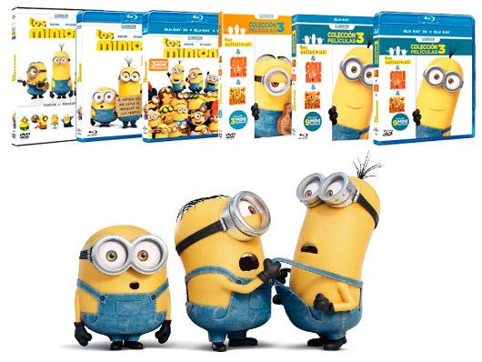 A la venta 'Los Minions' en DVD, Blu-ray, Blu-ray 3D, packs y edición metálica