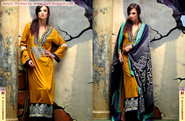 Ayesha Zara Shawl Designs
