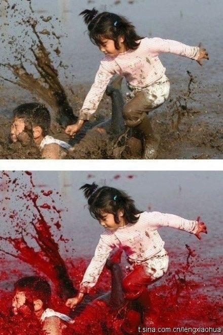 gambar photoshop bunuh budak darah