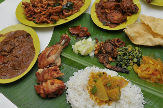 ... on banana leaf grilled fish with banana leaf curry leaf fried chicken