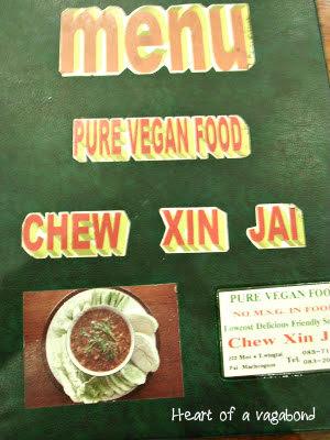 vegetarian food Thailand