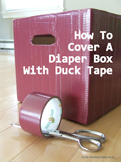 How To Cover A Diaper Box With Duck Tape