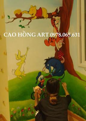 vẽ tranh tường,vẽ tranh tường phòng trẻ em