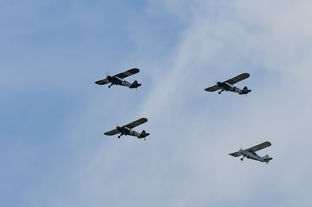 Piper L-4 Grasshopper Formation during the Arsenal of Democracy Flyover