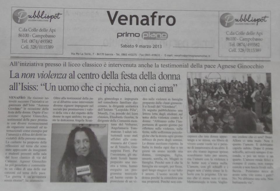 Mov ambasciatori del movim internazionale per la pace e la salvaguardia del creato iii - Diva e donne giornale ...