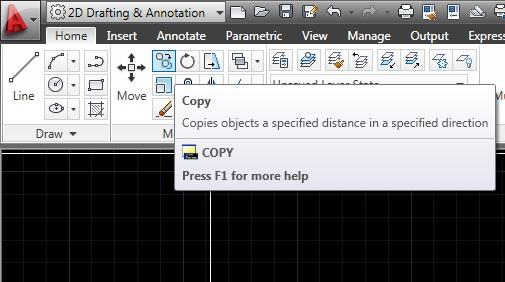 Dicas de autocad comandos b sicos copy copiar for Copy cad