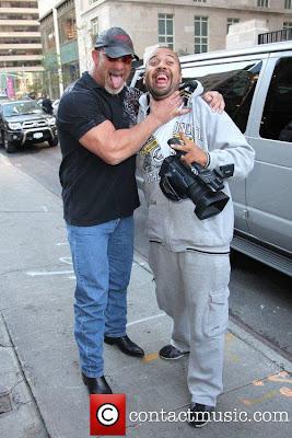 Goldberg smiling with photographer