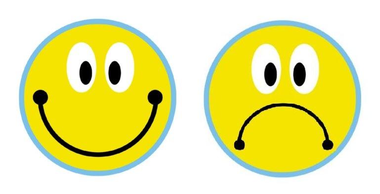 Dibujar caras tristes alegres - Imagui
