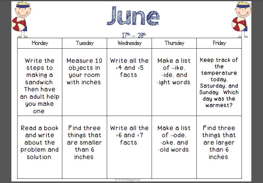 Calendar For Kids Activities : Panther parent summer activities to keep your kids