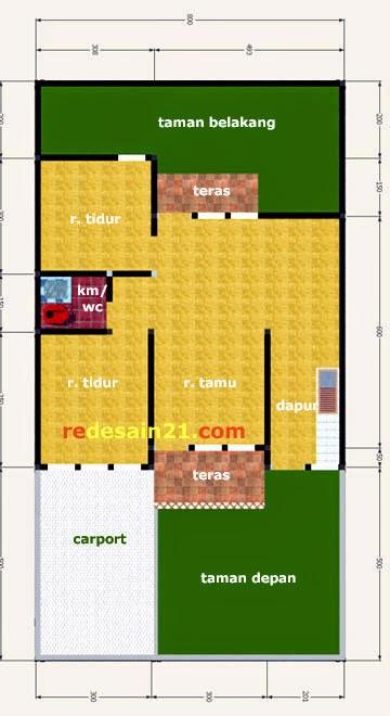 Gambar Desain Rumah Sederhana Minimalis Type 60 - Denah