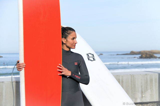 lady slider,biarritz,billabong,surfer girl,beach girl,surf,longboard,cote des basques,biarritz surf training,nora,elodie,guava and coconut,sunrise never ends