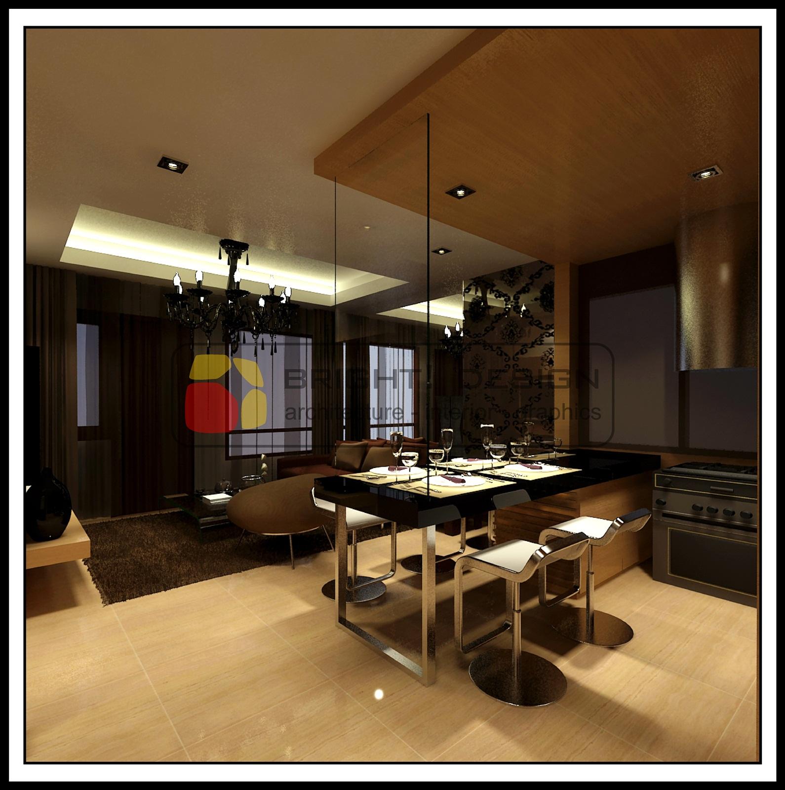 Apartment unit sudirman park apartment jakarta the for Dining room zomato jkt