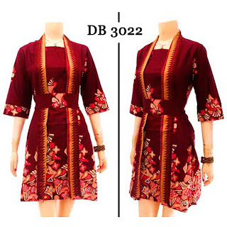 DB3022 Model Baju Dress Batik Modern Terbaru 2013