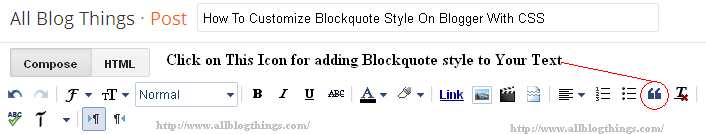 How To Customize Blockquote Style On Blogger With CSS