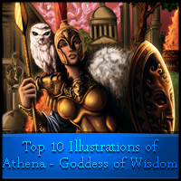 Top 10 Illustrations of Athena – Goddess of Wisdom