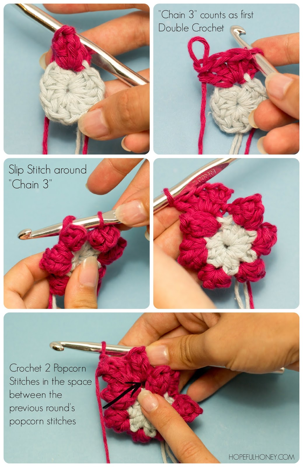 Dahlia Hexagon Crochet Pattern