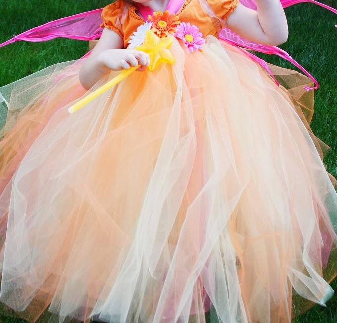 easy fairy costume tutu dress tutorial