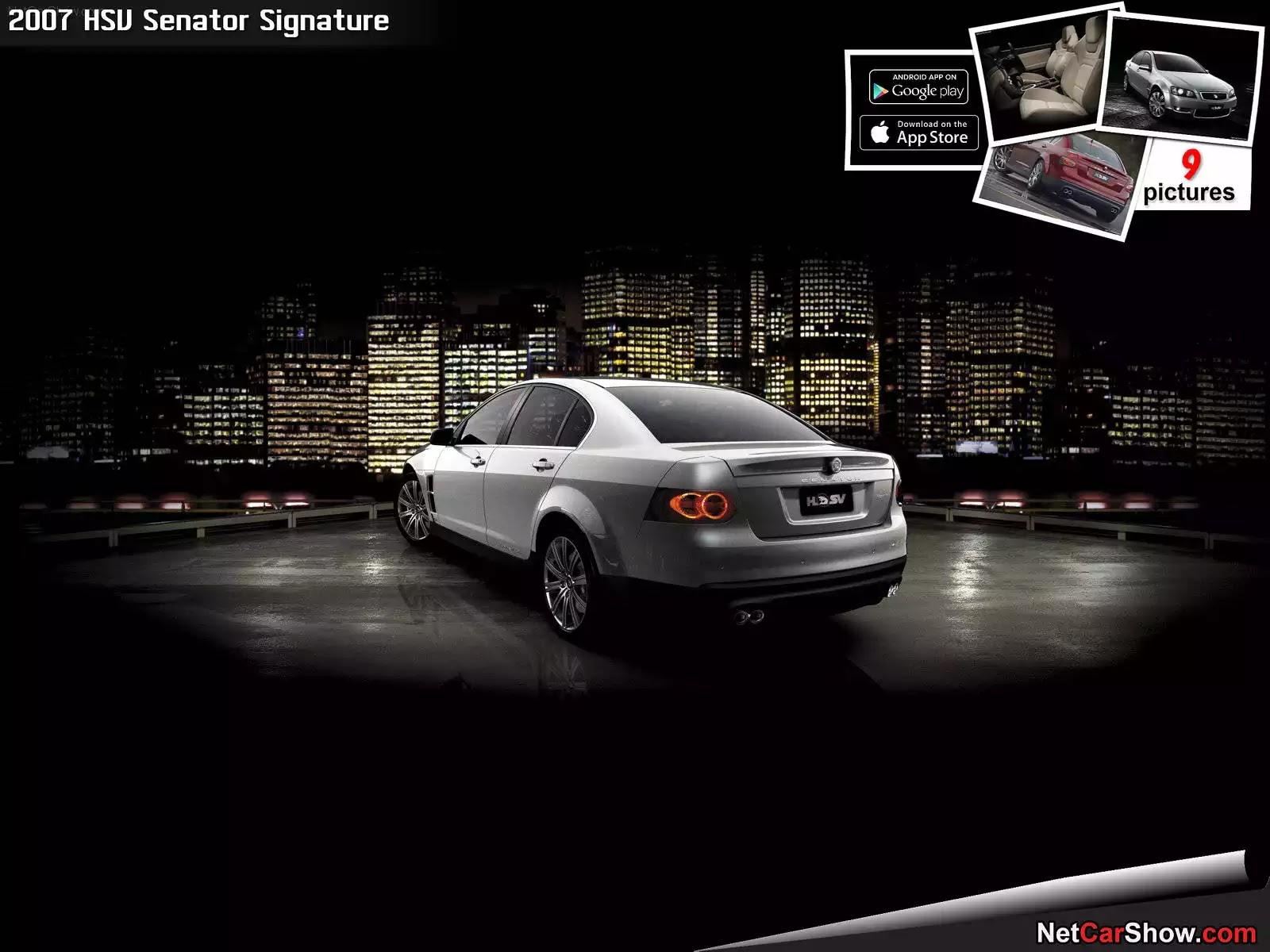 Hình ảnh xe ô tô HSV Senator Signature 2007 & nội ngoại thất