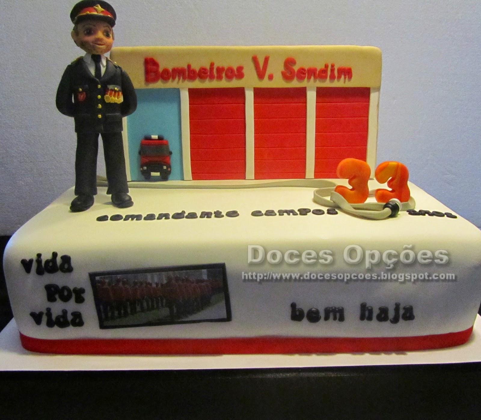 Bolo aniversário do Bombeiro Comandante Campos