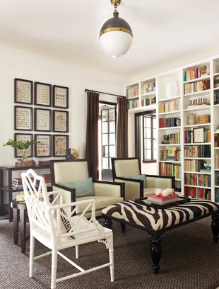 Light and airy home library design