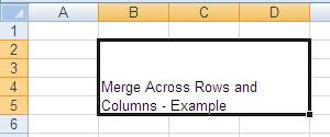 XLS - Merge Rows and Columns - Java POI Example Output