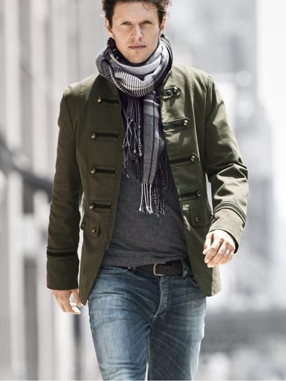 chaquetas estilo militar hombre