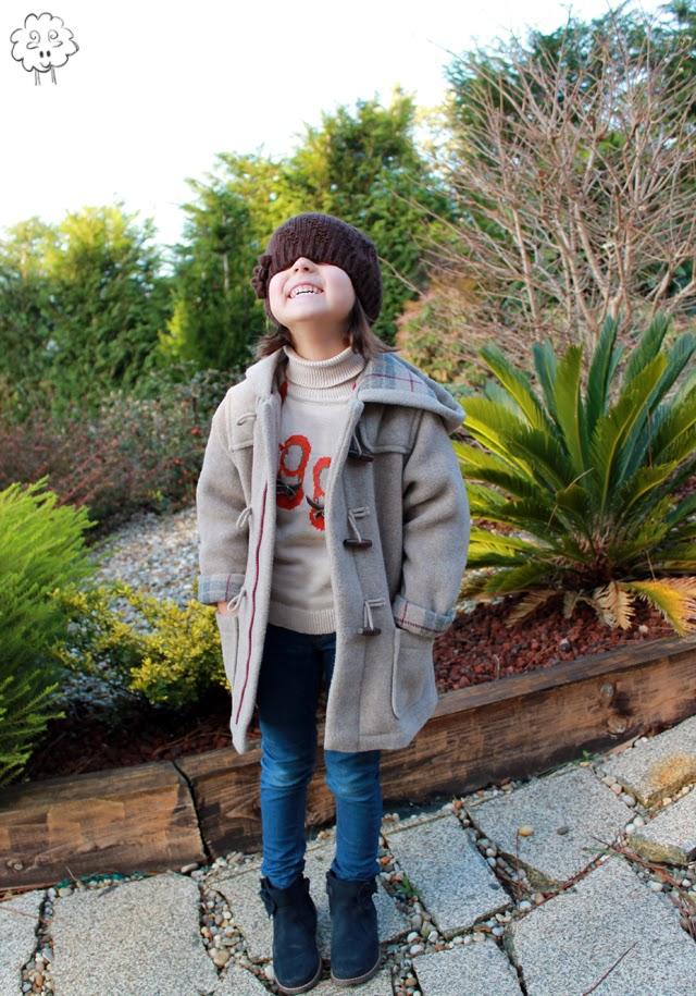 estilismo niña invierno parca y botines