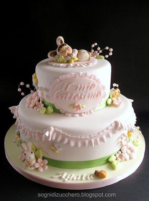 Top sogni di zucchero: Torta Battesimo EP76