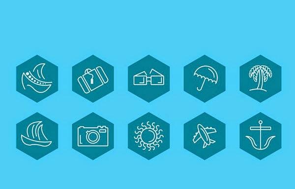 Free Travel Icons (AI, EPS)